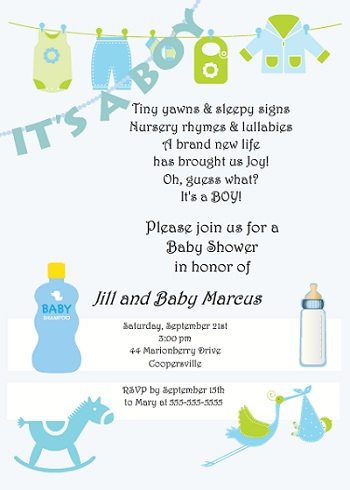 baby shower invite wording boy. remarkable baby shower invitation, Baby shower