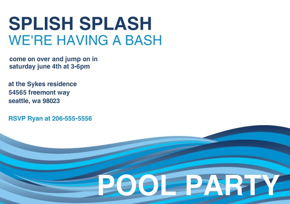 Pool Party Invitations From PurpleTrail – Graduation Pool Party Invitations
