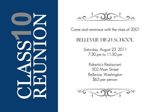 Class Reunion Invitations From PurpleTrail