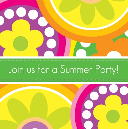 sizzlin' summer party invitations l purpletrail, Party invitations