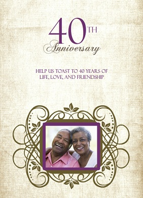 Anniversary Party Invitations From PurpleTrail