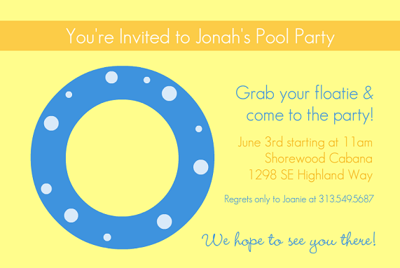 Pool Party Invitations From PurpleTrail