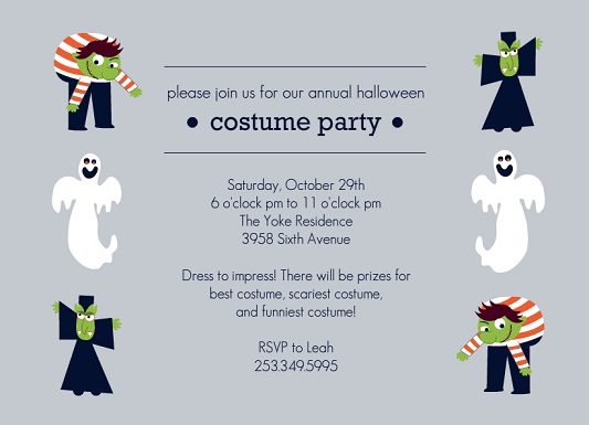 halloween party invitations from purpletrail, Party invitations