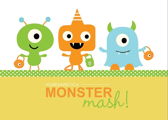 Lil Monster Bash Halloween Party Invitation
