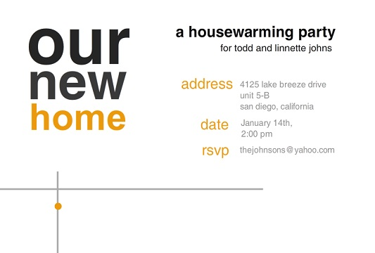 Housewarming Invitations And Moving Announcements From Purpletrail