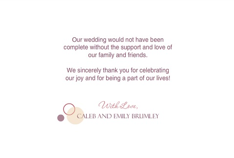 Thank You Cards From PurpleTrail Fully Personalizable – Modern Wedding Thank You Cards