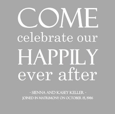 Modern Silver Simple 25th Wedding Anniversary Party Invitation