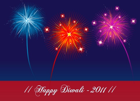 Bright Colors Festival of Lights Diwali Greeting Card