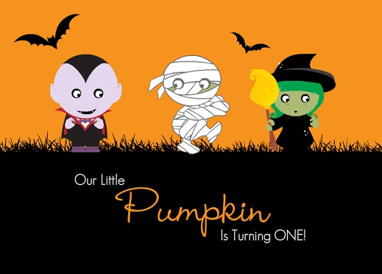 October First Birthday Invitations From PurpleTrail - Halloween Themes