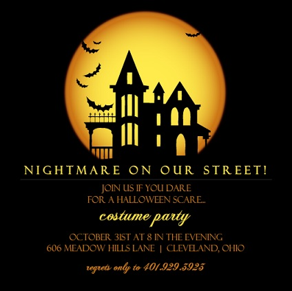 Party Invitations for Autumn Holidays From PurpleTrail – Scary Party Invitations