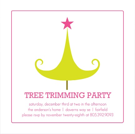 Holiday Party Theme Invitations from PurpleTrail – Tree Trimming Party Invitation