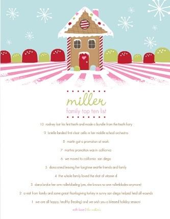 Candyland Gingerbread House (Set) Christmas Letter