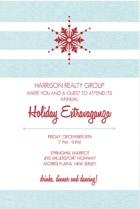light blue and red business holiday party invitation - Corporate Holiday Party Invitations