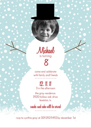 holiday birthday invitations for parties from purpletrail