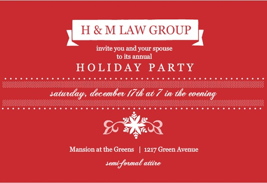 Corporate Holiday Invitation For Parties From PurpleTrail - Employee christmas party invitation template