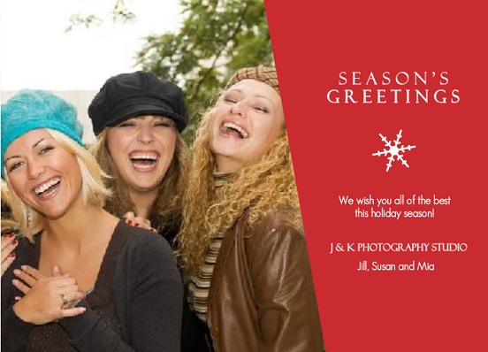 Corporate holiday cards from purpletrail red seasons greetings business holiday photo card m4hsunfo Gallery