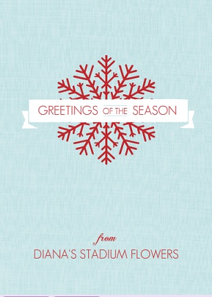 Corporate holiday cards from purpletrail red snowflake banner business holiday greeting card colourmoves