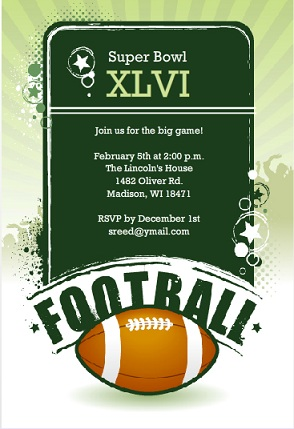 Football Invitations for Tailgates Birthdays and More