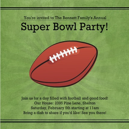 Football Invitations for Tailgates Birthdays and More – Football Party Invitation Wording
