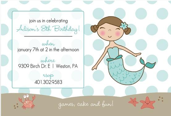 Kids Birthday Invitations Custom from PurpleTrail – Kids Party Invites