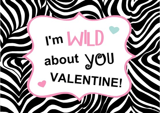 Zebra Heart Valentine's Day Card