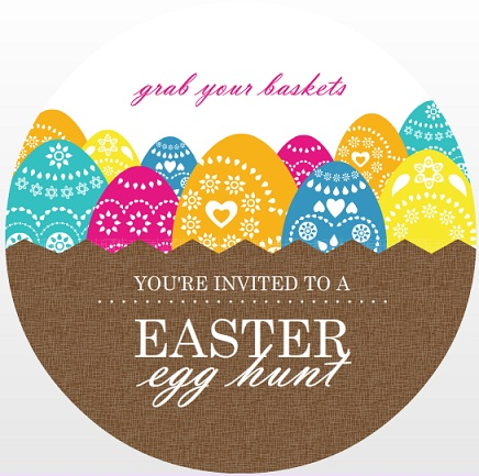 easter cards and custom party invitations from purpletrail, party invitations