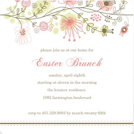 Easter Cards and Custom Party Invitations from PurpleTrail – Easter Invitation Cards