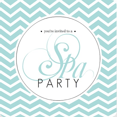 spa party invites - relax breathe rejuvenate - from purpetrail, Party invitations