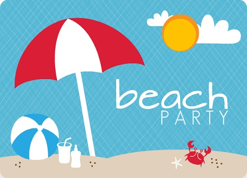 beach party invitation template