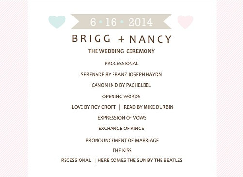 wedding programs by purpletrail