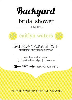 Summer and fall bridal shower invitations yellow citrus fruit bridal shower invite filmwisefo