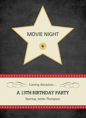 movie night invitations from purpletrail