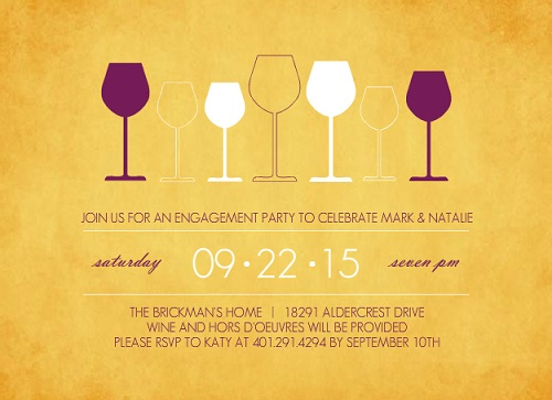 Wine Party Invitations from PurpleTrail – Wine Tasting Party Invitation Wording