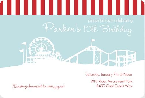 Kids Birthday Party Invitations from PurpleTrail – Park Birthday Invitations