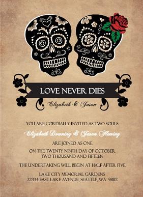 Halloween Wedding Invitations from PurpleTrail