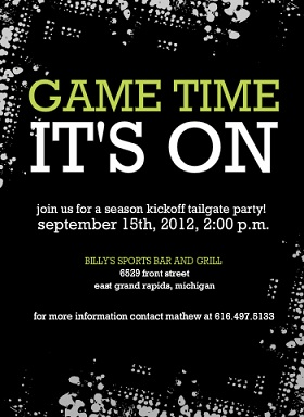 football party invitations that score big  from purpletrail, Party invitations