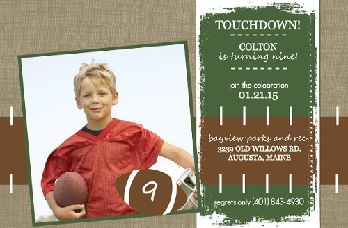 Football Party Invitations that score big from PurpleTrail – Football Party Invitations