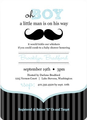 A Moustache Baby Boy Shower