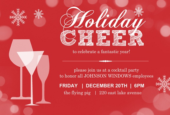Business Holiday Party Invites - Purpletrail Blog