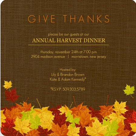 Thanksgiving Invitation Background
