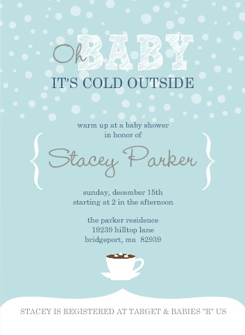 winter baby shower invitations and inspiration, Baby shower invitations