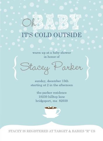 Winter Baby Shower Invitation