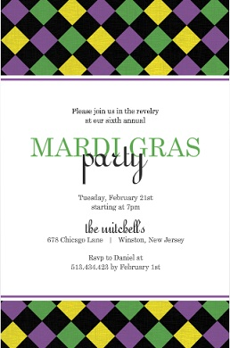 colorful mardi gras party invitations  purpletrail, Party invitations