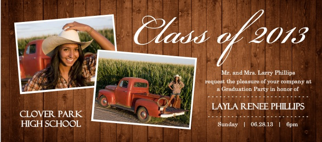 Custom graduation announcements class of 2013 purpletrail rustic custom graduation announcement filmwisefo